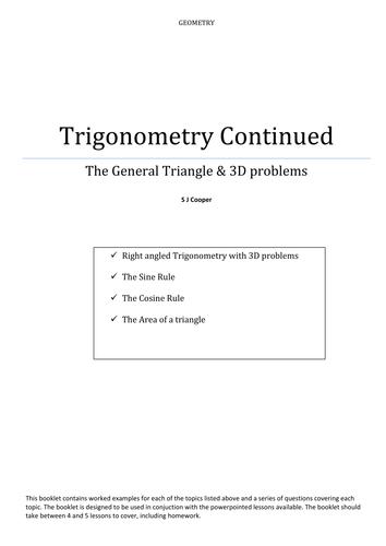 Further Trigonometry worksheets