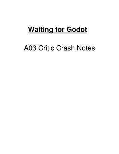 Waiting for Godot - Critics