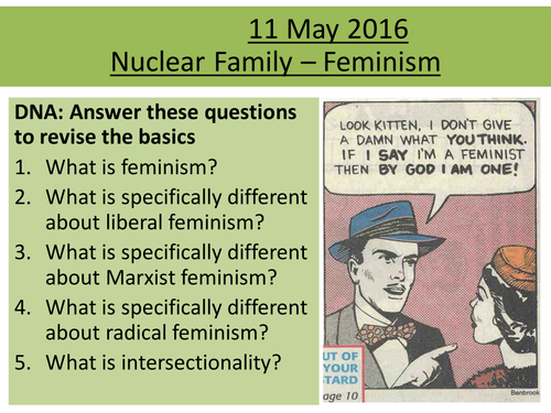 Sociology H580 / H180 Nuclear Family: Feminism