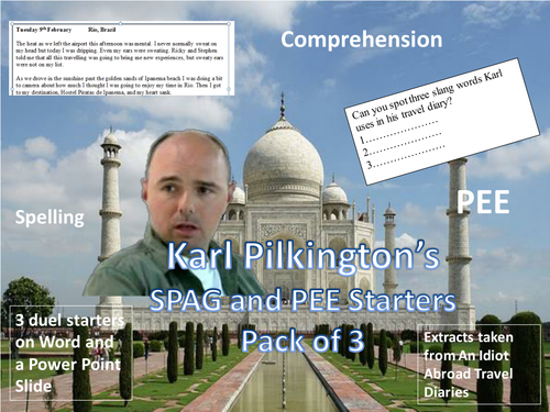 Karl Pilkington's SPAG and PEE starters