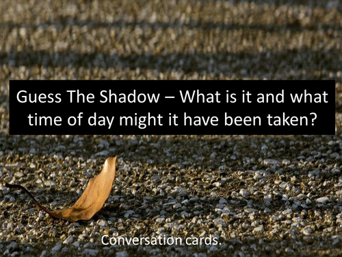 Guess The Shadow Game - Perfect for Light And Shadows Unit