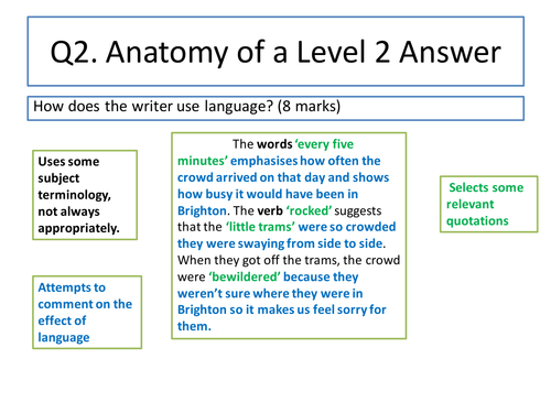 Gcse aqa english language p1 section b (001) sample answers.