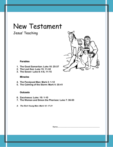 Jesus' teaching pupil booklet (common entrance)