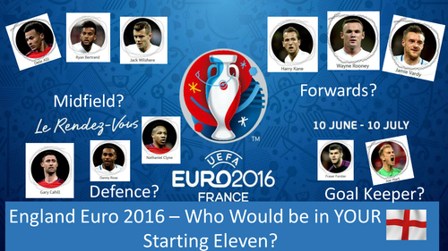 Euro 2016 - who would be in your England starting eleven?