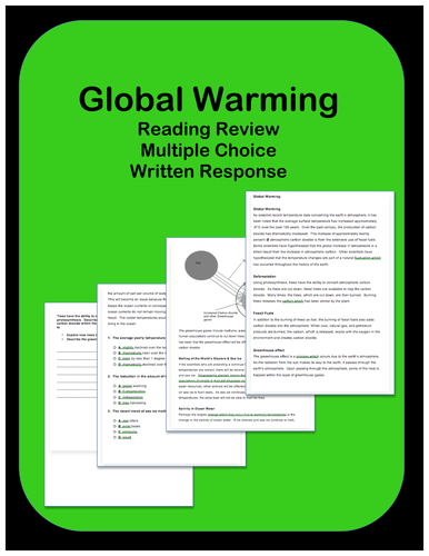 Global Warming: Passages and Questions