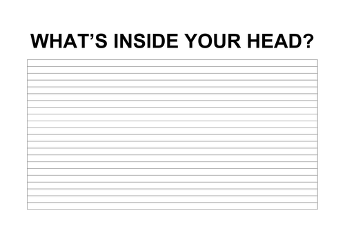 WHAT'S INSIDE YOUR HEAD?
