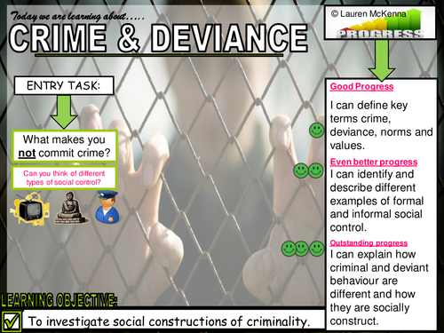 Crime and Deviance Intro