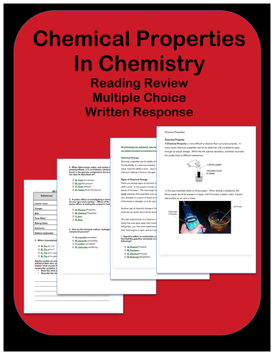 Chemical Properties: Passages and Questions