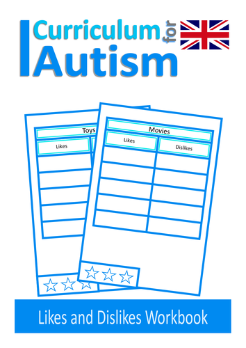 Autism Social Skills Worksheets Likes And Dislikes Speech Therapy