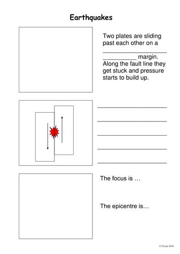 Earthquake Causes Worksheet - Step by Step (LA/SEN)