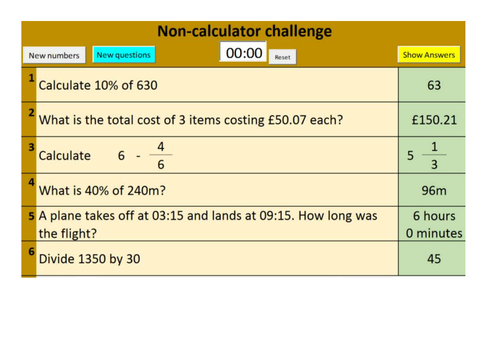 Randomised GCSE Number Revision Questions (Foundation and Higher)
