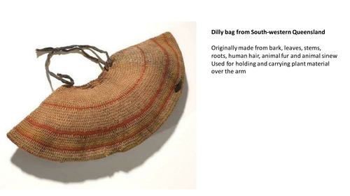 Traditional products made by Aboriginal Australians