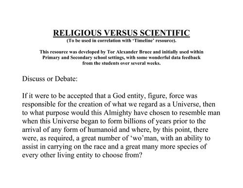 ENGLISH SPEAKING (RELIGION versus SCIENCE) - HOT SEAT CHALLENGE