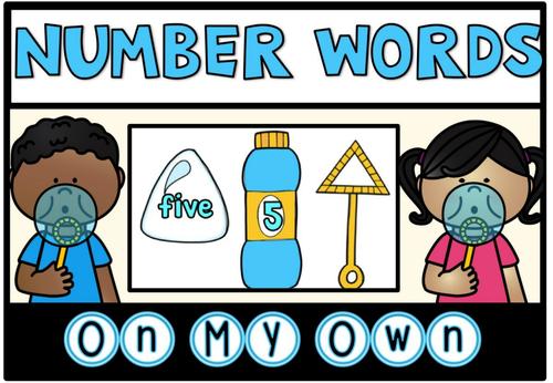 Math Centre Number Words Freebie