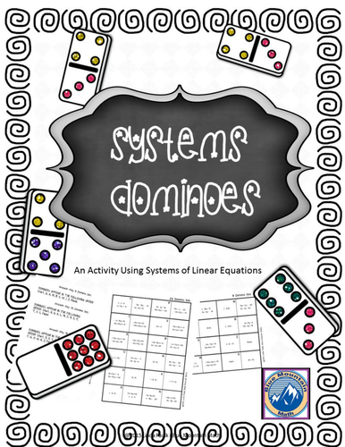 Free System of Equations Domino Set of 8