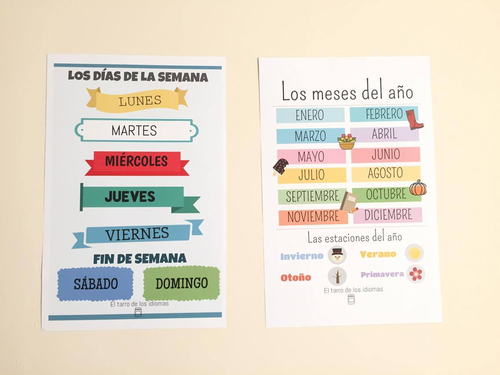 Posters for Spanish lessons (Days of the week and months)