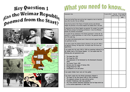 Edexcel GCSE History 9-1 Weimar and Nazi Germany, 1918–39 Resources for whole Unit