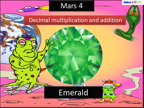 Mars - Addition and Multiplication with Decimals