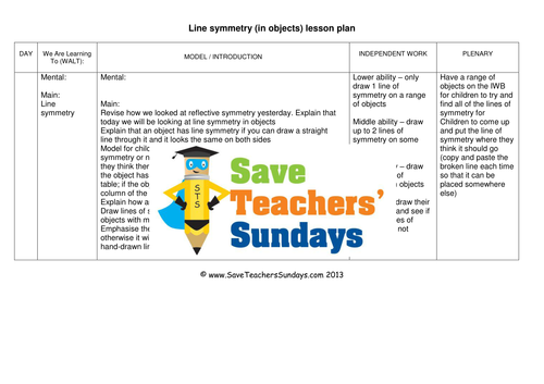 lines of symmetry ks2 worksheets lesson plans powerpoint and plenary