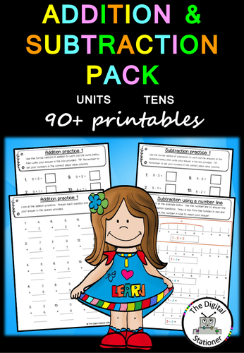 Addition and Subtraction of Whole Numbers worksheet by ...