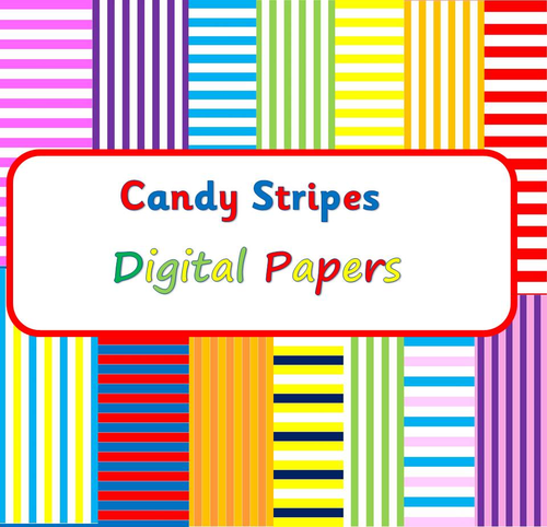 Candy Stripes Digital Papers