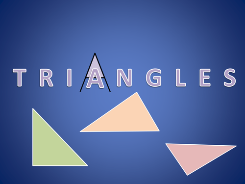 Triangles - a step by step introduction