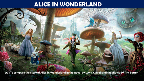 Help! I need to write an essay comparing Alice in Wonderland to something else!?