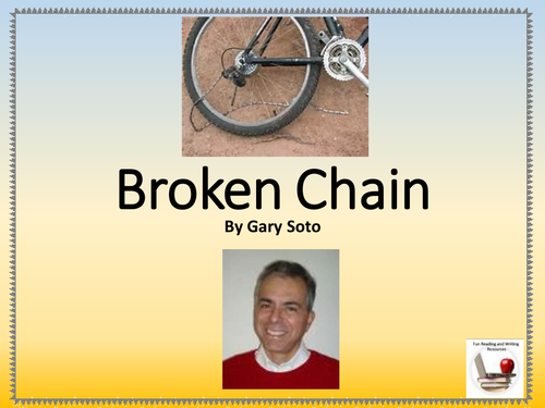 the broken chain by gary soto essay Gary soto join the world's largest study community sanders.