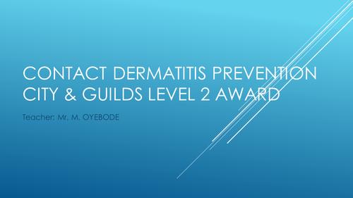 Contact Dermatitis Prevention - City & Guilds Level 2 Award