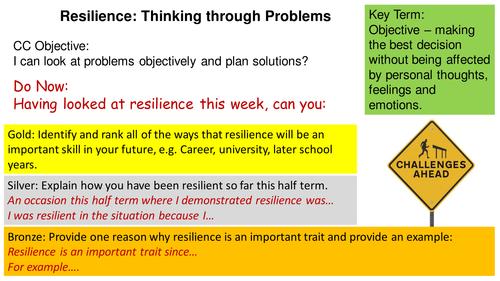 PSE: Resilience - 3 Lesson Bundle