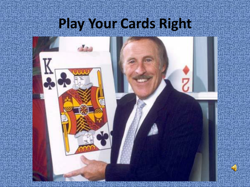 GCSE Business - Business and People - Play Your Cards Right Revision Quiz/Game