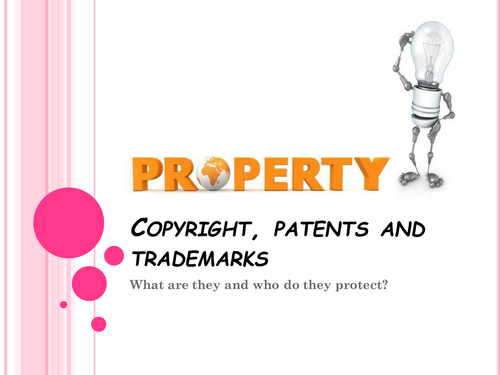 Intellectual Property (Copyright, Patents and Trademarks)