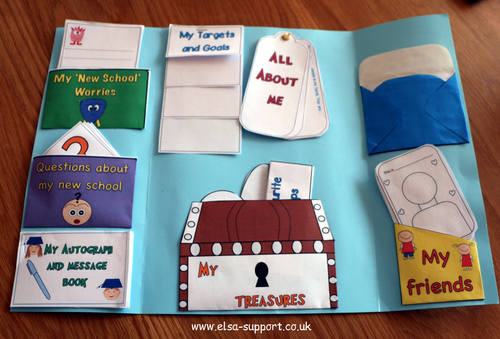 Transition Lapbook Template pack