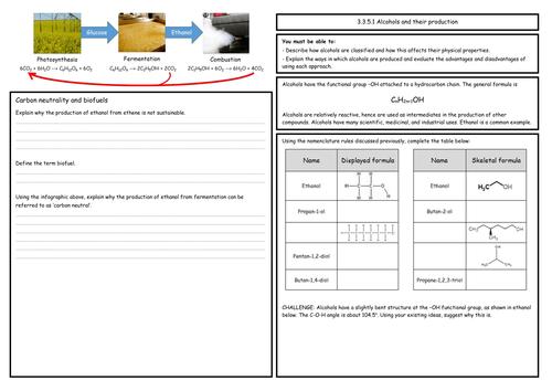Naming Alkanes Worksheet by porbital - Teaching Resources - Tes