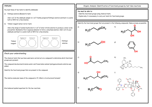 A Level Chemistry: Organic Analysis