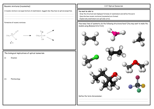 A Level Chemistry: Optical Isomerism