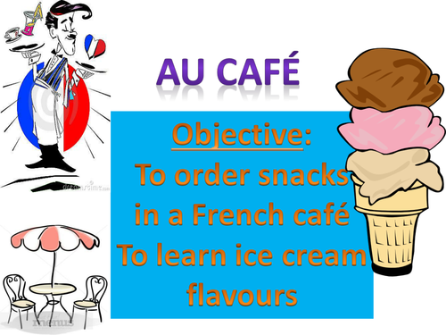 Au Cafe - buying snacks and ice-cream