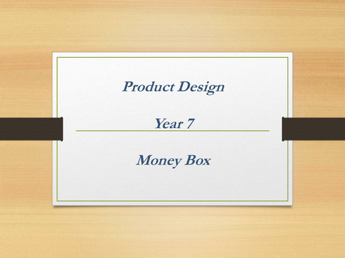 KS3 RM Money Box Project - SoW & Powerpoint