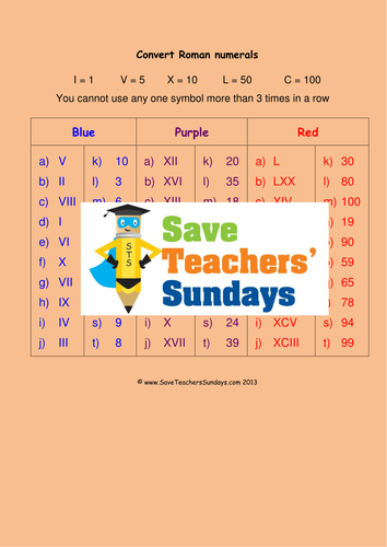 Roman Numerals KS2 Lesson Plans Worksheets PowerPoint and – Lesson Plan Worksheets