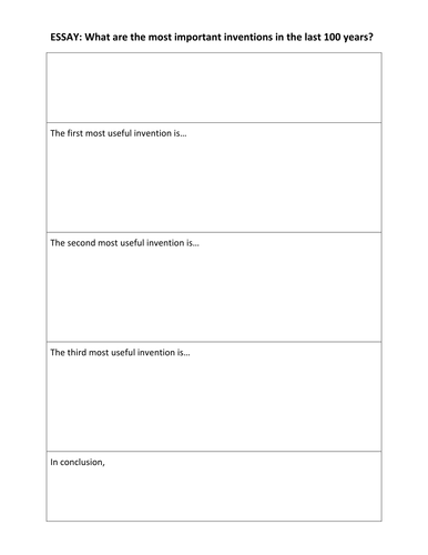 essay template inventions over the last years by kelcasper essay template inventions over the last 100 years by kelcasper teaching resources tes