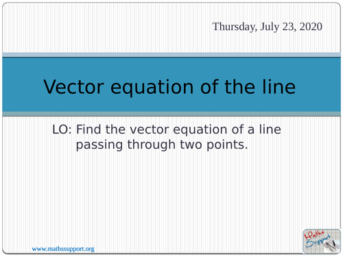 how to teach vectors in maths