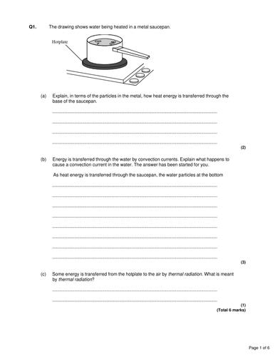 P1 AQA GCSE PRACTICE QUESTIONS