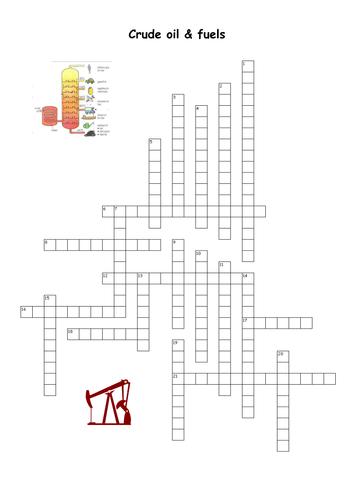 C1 Crude Oil & Fuels Crossword