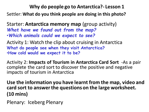 The Impacts of Tourism in Antarctica (2 Lessons)