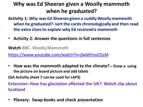 Why was Ed Sheeran given a Woolly mammoth when he graduated?
