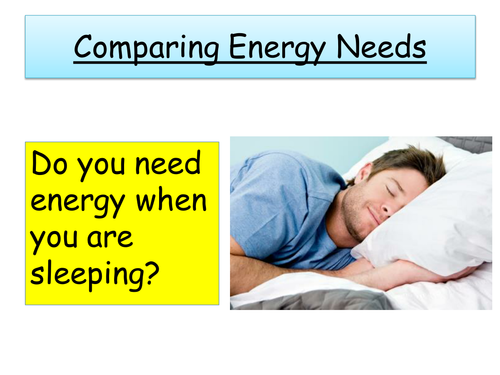 Comparing Energy Needs