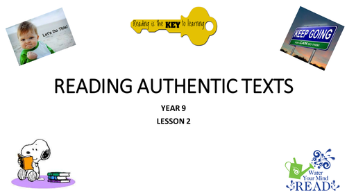 Authentic Texts - Cinema and Angry Birds