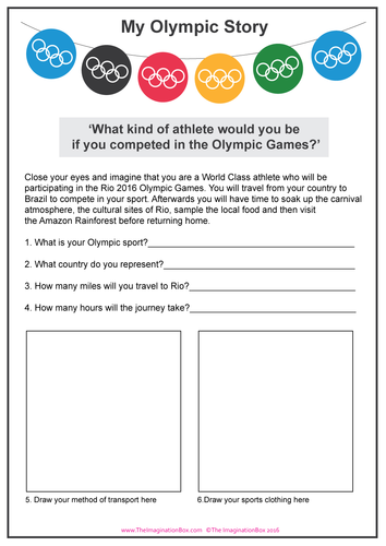 'My Olympic Story' Summer Games imaginative learning & research activity