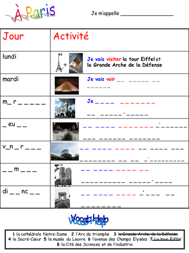 Euro 2016 activity pack - French