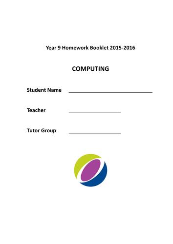 Year 9 Computing Homework Booklet